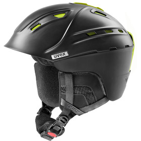 UVEX p2us IAS Casco da sci, black mat yellow